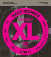 Фото - Струны DAddario XL Half Rounds Bass 45-100