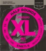 Струны DAddario XL Half Rounds Bass 5-String 45-130