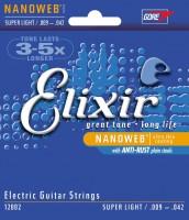 Струны Elixir Electric Nanoweb Super Light 9-42