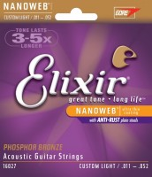 Струны Elixir Acoustic Phosphor Bronze Custom Light 11-52