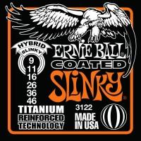Фото - Струны Ernie Ball Slinky RPS Coated Titanium 9-46