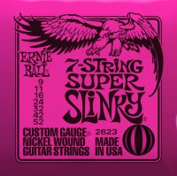 Фото - Струны Ernie Ball Slinky Nickel Wound 7-String 9-52