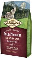 Фото - Корм для кошек Carnilove Adult Hairball Control with Duck/Pheasant 6 kg