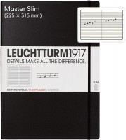 Блокнот Leuchtturm1917 Staves Master Slim Black