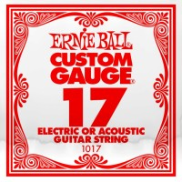 Фото - Струны Ernie Ball Single Plain Steel 17