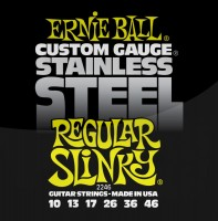 Фото - Струны Ernie Ball Slinky Stainless Steel 10-46