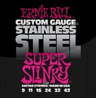 Фото - Струны Ernie Ball Slinky Stainless Steel 9-42