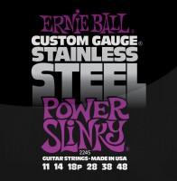 Фото - Струны Ernie Ball Slinky Stainless Steel 11-48