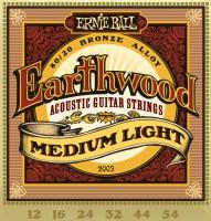 Фото - Струны Ernie Ball Earthwood 80/20 Bronze 12-54