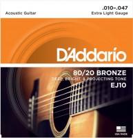 Фото - Струны DAddario 80/20 Bronze 10-47