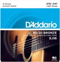 Фото - Струны DAddario 80/20 Bronze 12-String 10-47