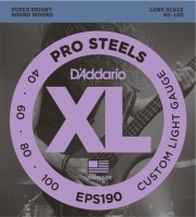 Струны DAddario XL ProSteels Bass 40-100