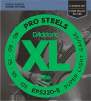 Струны DAddario XL ProSteels 5-String Bass 40-125