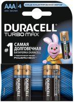 Аккумуляторная батарейка Duracell 4xAAA Turbo Max MX2400