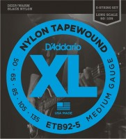 Струны DAddario XL Nylon Tapewound Bass 5-String 50-135