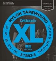 Фото - Струны DAddario XL Nylon Tapewound Bass 5-String 50-135
