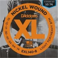 Струны DAddario XL Nickel Wound 8-String 10-74