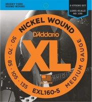 Струны DAddario XL Nickel Wound Bass 5-String 50-135