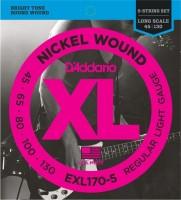 Фото - Струны DAddario XL Nickel Wound Bass 5-String 45-130