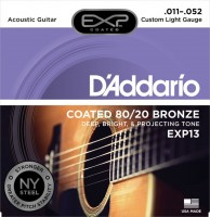 Фото - Струны DAddario EXP Coated 80/20 Bronze 11-52