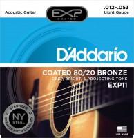 Фото - Струны DAddario EXP Coated 80/20 Bronze 12-53