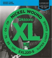 Струны DAddario XL Nickel Wound Bass 5-String 40-125