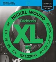 Фото - Струны DAddario XL Nickel Wound Bass 5-String 40-125