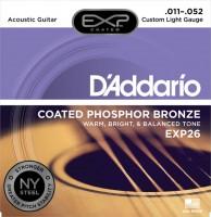 Струны DAddario EXP Coated Phosphor Bronze 11-52