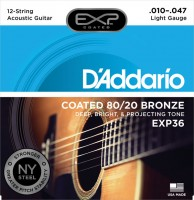 Фото - Струны DAddario EXP Coated 80/20 Bronze 12-String 10-47