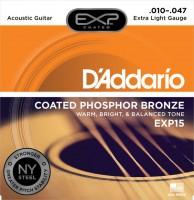 Фото - Струны DAddario EXP Coated Phosphor Bronze 10-47