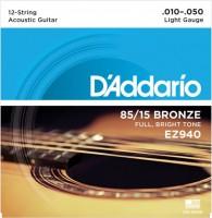 Фото - Струны DAddario 85/15 Bronze 12-String 10-50