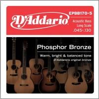 Фото - Струны DAddario Phosphor Bronze Acoustic Bass 5-String 45-130
