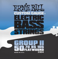 Струны Ernie Ball Flatwound Group II Bass 50-105