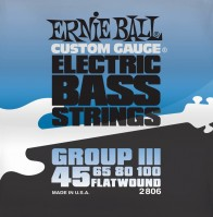 Фото - Струны Ernie Ball Flatwound Group III Bass 45-100