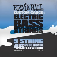 Фото - Струны Ernie Ball Flatwound 5-String Bass 45-130