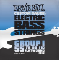 Фото - Струны Ernie Ball Flatwound Group I Bass 55-110