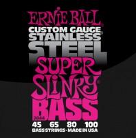 Фото - Струны Ernie Ball Slinky Stainless Steel Bass 45-100