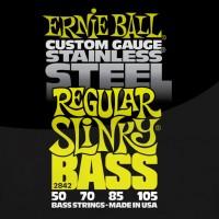 Фото - Струны Ernie Ball Slinky Stainless Steel Bass 50-105