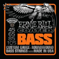 Фото - Струны Ernie Ball Slinky M-Steel Bass 45-105