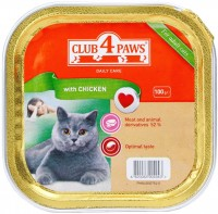 Корм для кошек Club 4 Paws Packaging Pate with Chicken 0.1 kg