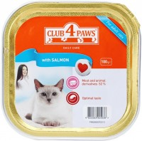 Корм для кошек Club 4 Paws Packaging Pate with Salmon 0.1 kg