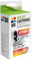 Картридж ColorWay CW-PGI-470BK