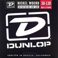 Струны Dunlop Nickel Wound 6-String Bass Medium 30-130