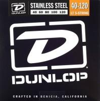Струны Dunlop Stainless Steel 5-String Bass Light 40-120