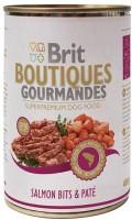 Фото - Корм для собак Brit Boutiques Gourmandes Salmon Bits/Pate 0.4 kg