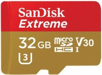 Карта памяти SanDisk Extreme Action V30 microSDHC UHS-I U3 32Gb