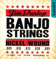 Струны Dunlop Banjo Nickel Wound Light 9-20