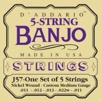 Струны DAddario 5-String Banjo Nickel-Wound 11-22