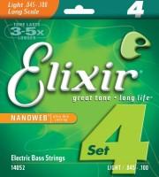 Струны Elixir Bass Nanoweb 45-100