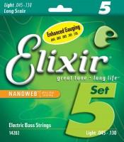 Фото - Струны Elixir Bass 5-String Nanoweb 45-130